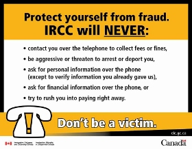 Immigration, Refugees and Citizenship Canada(IRCC) will never do these things: Image